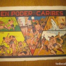 Tebeos: EN PODER DE LOS CARIBES. EDITORIAL VALENCIANA. ORIGINAL.. Lote 147296370