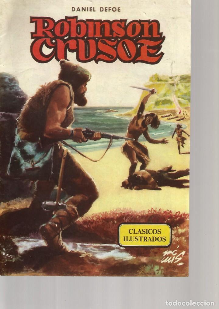CLASICOS ILUSTRADOS DANIEL DEFOE ROBINSON CRUSOE Nº 3 (Tebeos y Comics - Valenciana - Otros)