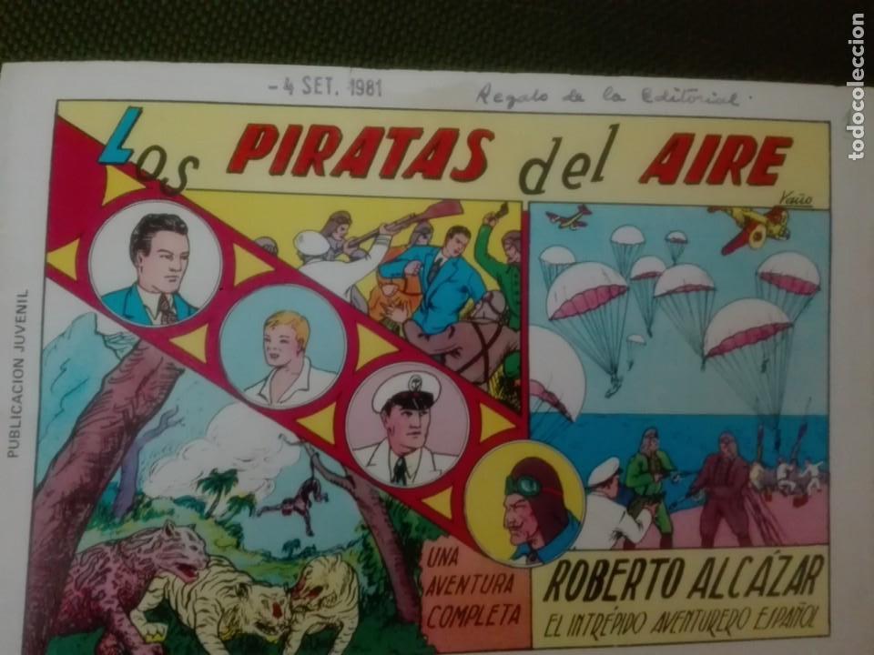 ROBERTO ALCÁZAR LOS PIRATAS DEL AIRE. NUMERO 1 (Tebeos y Comics - Valenciana - Roberto Alcázar y Pedrín)