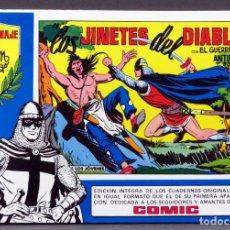Tebeos: EL GUERRERO DEL ANTIFAZ Nº 72 HOMENAJE MANUEL GAGO EDITORIA VALENCIANA 1982 JINETES DEL DIABLO. Lote 148170198