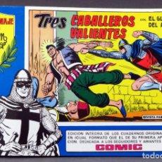 Tebeos: EL GUERRERO DEL ANTIFAZ Nº 76 HOMENAJE MANUEL GAGO EDITORIA VALENCIANA 1982 TRES CABALLEROS VALIENTE. Lote 148170782
