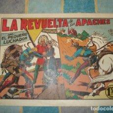Tebeos: EL PEQUEÑO LUCHADOR 35: LA REVUELTA DE LOS APACHES, 1945, VALENCIANA, BUEN ESTADO. Lote 148251126
