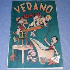 Tebeos: VERANO DE JAIMITO EDITORIAL VALENCIANA AÑOS 40 ORIGINAL VER FOTOS Y DESCRIPCION. Lote 148682106