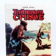 Giornalini: CLASICOS ILUSTRADOS 3. ROBINSON CRUSOE (DANIEL DEFOE / SANCHÍS CORTÉS) VALENCIANA, 1984. OFRT. Lote 150788524