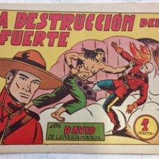 Tebeos: DAVID DE LA POLICÍA MONTADA ORIGINAL Nº 14 - 1951 VALENCIANA - LUIS GAGO. Lote 151033606