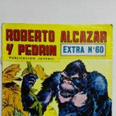 BDs: ROBERTO ALCAZAR Y PEDRIN, EXTRA Nº 60, SEGUNDA EPOCA, EDITORIAL VALENCIANA 1976, COLOR. Lote 151510058