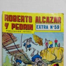 BDs: ROBERTO ALCAZAR Y PEDRIN, EXTRA Nº 59, SEGUNDA EPOCA, EDITORIAL VALENCIANA 1976, COLOR. Lote 151612590