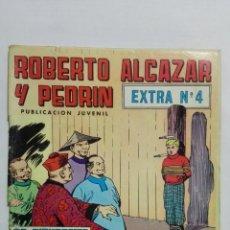 BDs: ROBERTO ALCAZAR Y PEDRIN, EXTRA Nº 4, SEGUNDA EPOCA, EDITORIAL VALENCIANA 1976, COLOR. Lote 151613086