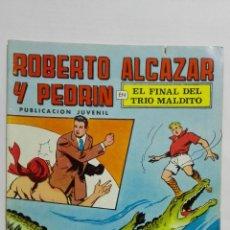 Tebeos: ROBERTO ALCAZAR Y PEDRIN, Nº 18, EL FINAL DEL TRIO MALDIT, 2ª EPOCA, EDITORIALVALENCIANA 1976, COLOR. Lote 151616810