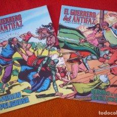 Tebeos: EL GUERRERO DEL ANTIFAZ NºS 62 Y 63 PUBLICACION JUVENIL EDITORA VALENCIANA. Lote 152107202