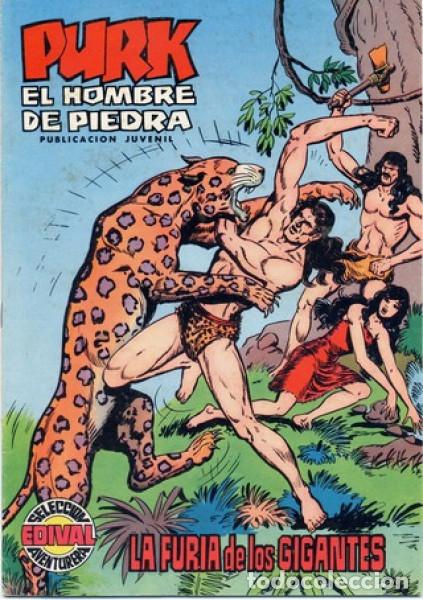 PURK EL HOMBRE DE PIEDRA- Nº 2 -IMPRESIONANTE OBRA DE M.GAGO-REEDICIÓN A COLOR-1974-CORRECTO-0404 (Tebeos y Comics - Valenciana - Selección Aventurera)