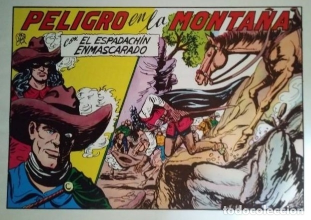 El Espadachín Enmascarado. 3 números en 1. Número 60. Peligro en la montaña + Odio vencido + Odio - 116736203