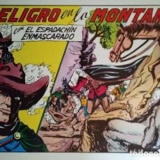 Tebeos: EL ESPADACHÍN ENMASCARADO. 3 NÚMEROS EN 1. NÚMERO 60. PELIGRO EN LA MONTAÑA + ODIO VENCIDO + ODIO. Lote 116736203