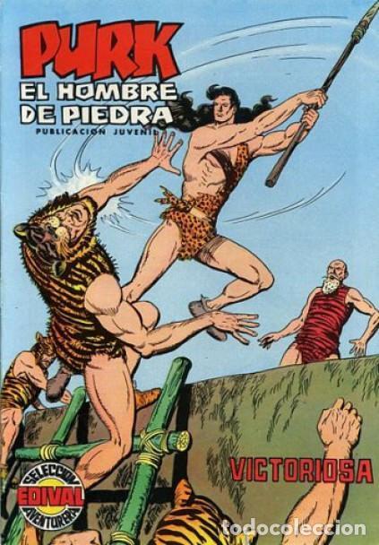 PURK EL HOMBRE DE PIEDRA-SELECCIÓN AVENTURERA- Nº 84 -1975-GRAN MANUEL GAGO-BUENO-LEAN-0499 (Tebeos y Comics - Valenciana - Selección Aventurera)