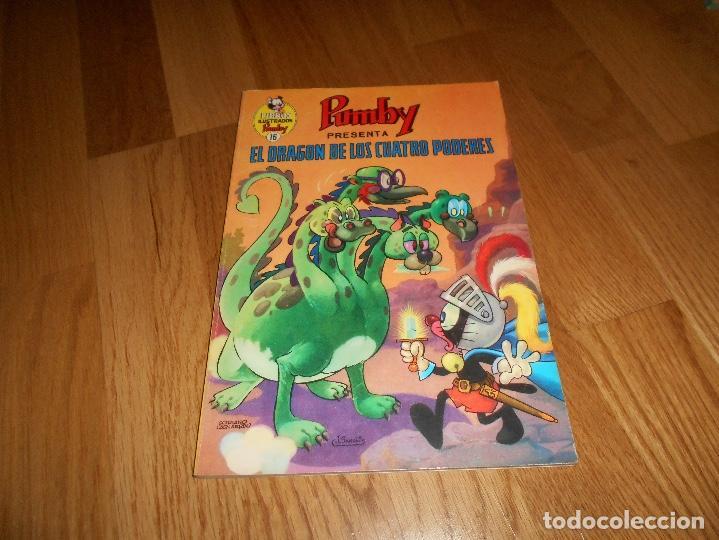 LIBROS ILUSTRADOS PUMBY, Nº 16, EL DRAGON DE LOS CUATRO PODERES 1969 PERFECTO (Tebeos y Comics - Valenciana - Pumby)