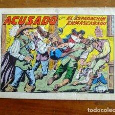 Tebeos: EL ESPADACHÍN ENMASCARADO. Nº 42 : ACUSADO. - 2ª ED.. Lote 155232078