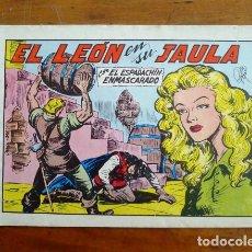 Tebeos: EL ESPADACHÍN ENMASCARADO. Nº 43 : EL LEÓN EN SU JAULA. - 2ª ED.. Lote 155232158