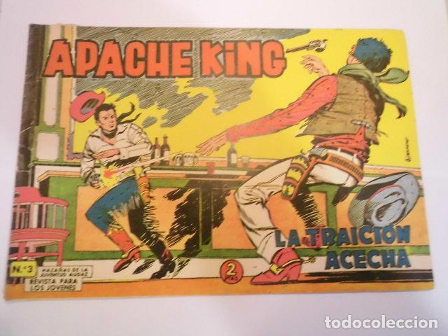 APACHE KING NUM 3 - VALENCIANA - 1962 (Tebeos y Comics - Valenciana - Otros)