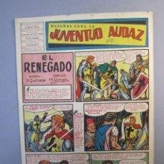 Tebeos: JUVENTUD AUDAZ (1947, VALENCIANA) 16 · 1951 · HAZAÑAS PARA LA JUVENTUD AUDAZ. Lote 155723662
