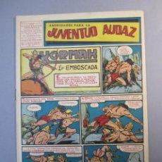 Tebeos: JUVENTUD AUDAZ (1947, VALENCIANA) 13 · 1951 · AMENIDADES PARA LA JUVENTUD AUDAZ. Lote 155724242