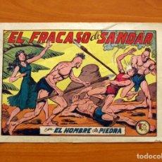 Tebeos: EL HOMBRE DE PIEDRA, Nº 132, EL FRACASO DE SANDAR - EDITORIAL VALENCIANA 1950. Lote 155899410