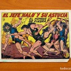 Tebeos: EL HOMBRE DE PIEDRA, Nº 197, EL JEFE HALO Y SU ASTUCIA - EDITORIAL VALENCIANA 1950. Lote 155902274