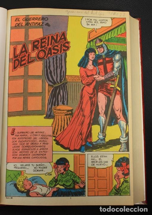EL GUERRERO DEL ANTIFAZ. NUM. 86 A 110. ENCUADERNADOS EN UN TOMO (Tebeos y Comics - Valenciana - Guerrero del Antifaz)