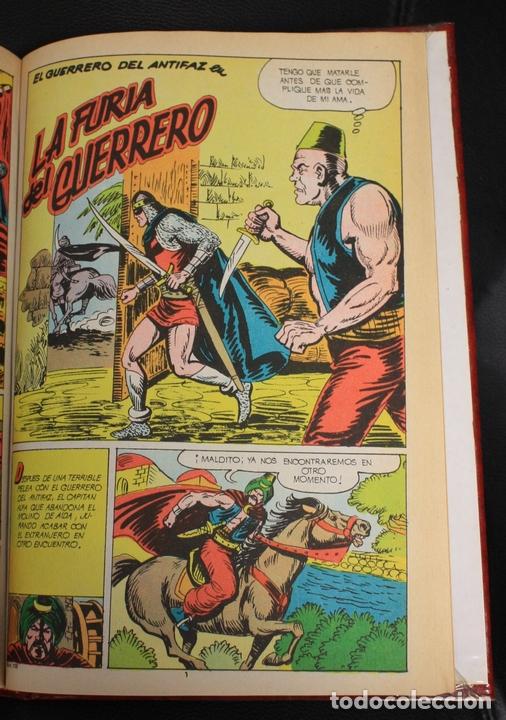 Tebeos: EL GUERRERO DEL ANTIFAZ. NUM. 86 A 110. ENCUADERNADOS EN UN TOMO - Foto 2 - 156049234