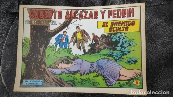 ROBERTO ALCAZAR Y PEDRIN EL ENEMIGO OCULTO Nº 1188 ORIGINAL (Tebeos y Comics - Valenciana - Roberto Alcázar y Pedrín)