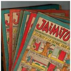 Tebeos: JAIMITO - LOTE DE 20 NÚMEROS ENTRE 400 Y 449 - ORIGINALES DE VALENCIANA,1957/8.MUY BUENOS.LEER. Lote 157125214