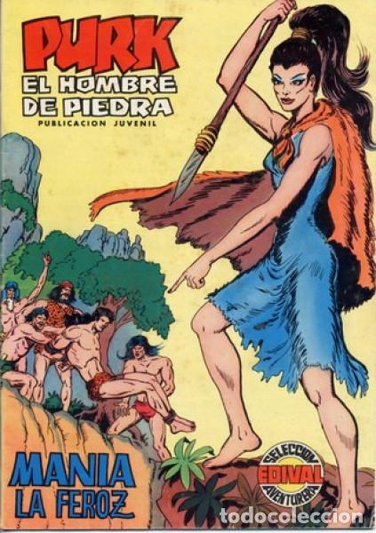 PURK EL HOMBRE DE PIEDRA- Nº 7 -MANÍA LA FEROZ-GRAN M.GAGO-REEDICIÓN A COLOR-1974-CORRECTO-0660 (Tebeos y Comics - Valenciana - Selección Aventurera)