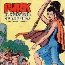 Tebeos - PURK EL HOMBRE DE PIEDRA- Nº 7 -MANÍA LA FEROZ-GRAN M.GAGO-REEDICIÓN A COLOR-1974-CORRECTO-0660 - 157864965