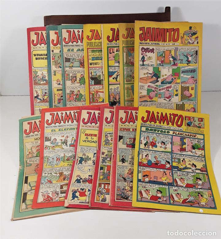 REVISTA JUVENIL JAIMITO. 13 EJEMPLARES. EDIT. VALENCIANA. VALENCIA. 1964/1975. (Tebeos y Comics - Valenciana - Jaimito)