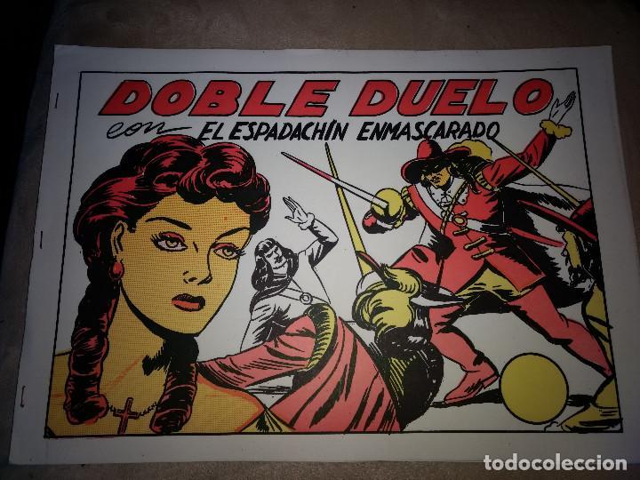 EL ESPADACHIN ENMASCARADO -DOBLE DUELO -MIGUEL QUESADA TEBEO NUNCA PUBLICADO POR VALENCIANA (Tebeos y Comics - Valenciana - Otros)