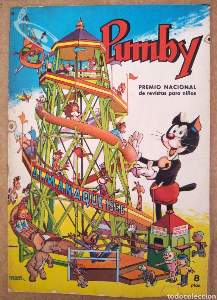 PUMBY ALMANAQUE 1966 (VALENCIANA). 36 PÁGINAS A COLOR Y BITONO. CON HISTORIETAS DE SANCHIS, PALOP... (Tebeos y Comics - Valenciana - Pumby)