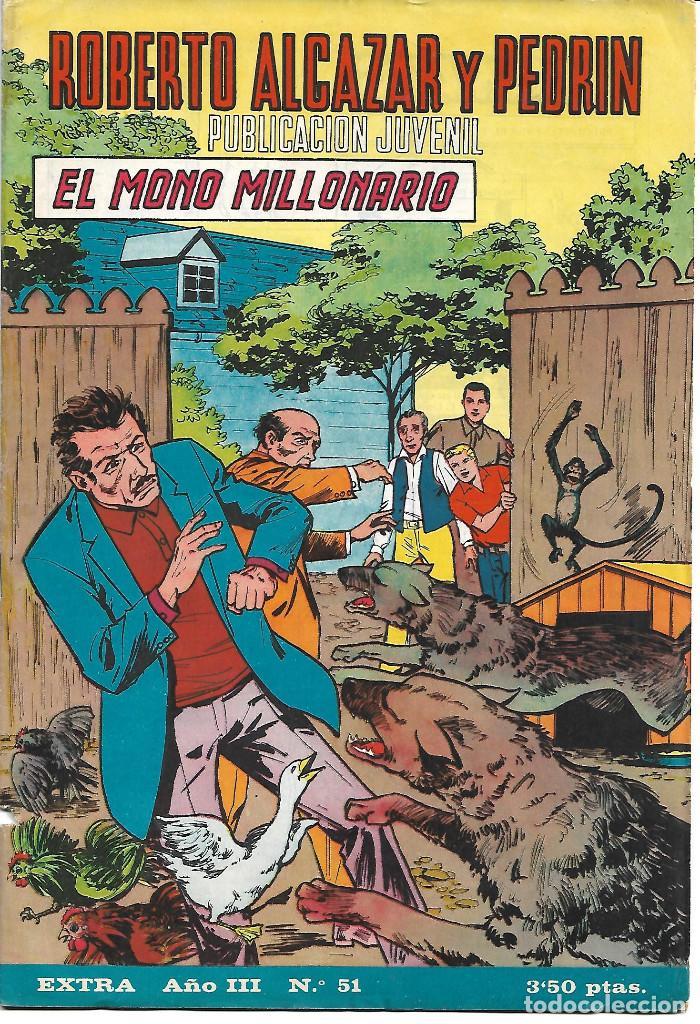 ROBERTO ALCAZAR EXTRA NUM 51 - ORIGINAL (Tebeos y Comics - Valenciana - Roberto Alcázar y Pedrín)