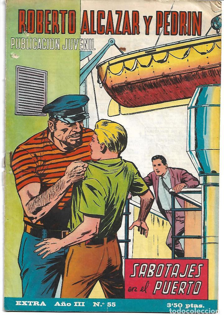 ROBERTO ALCAZAR EXTRA NUM 55 - ORIGINAL (Tebeos y Comics - Valenciana - Roberto Alcázar y Pedrín)