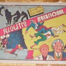 Tebeos: TEBEO JULIO Y RICARDO Nº 10 SERIE 2 UN SECUESTRO SENSACIONAL ORIGINAL 1945 EDITORIAL VALENCIANA RARO. Lote 161401466
