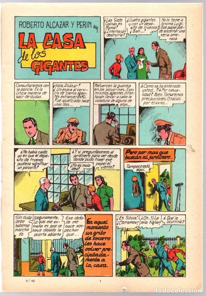 Tebeos: ROBERTO ALCAZAR Y PEDRIN. Nº 48. LA CASA DE LOS GIGANTES. 2ª EPOCA. VALENCIANA, 1976 - Foto 2 - 162170461