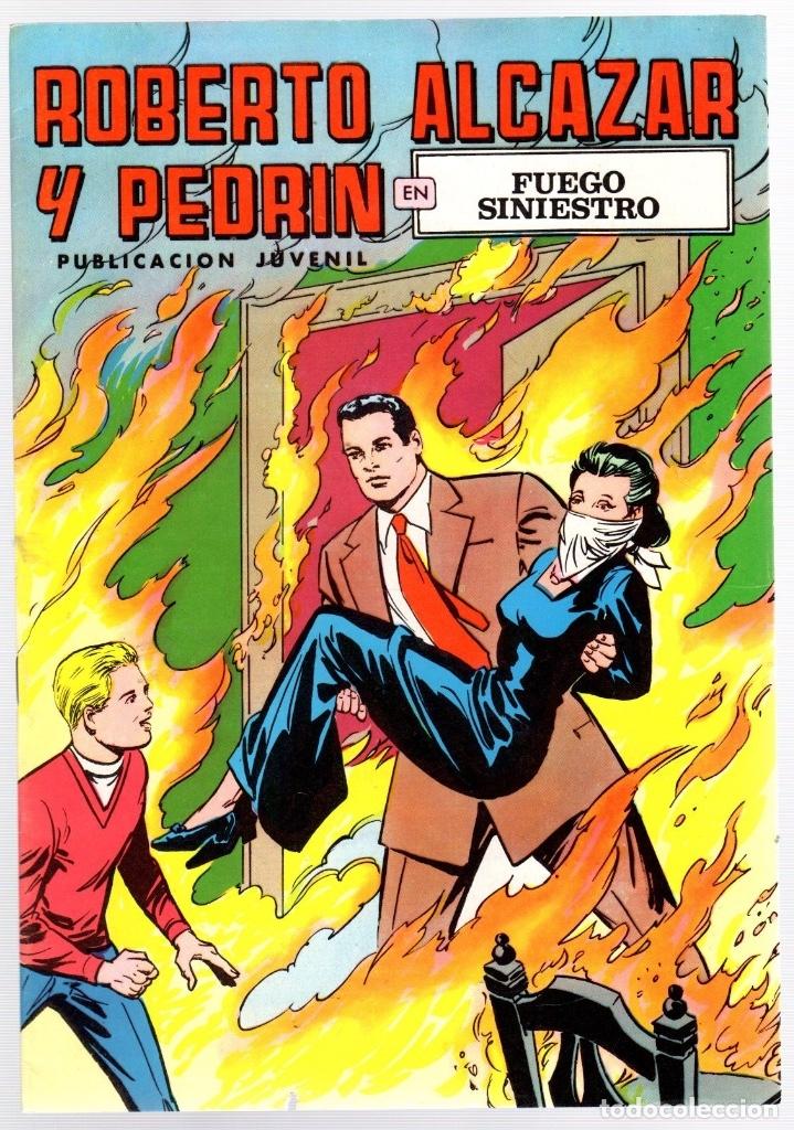 ROBERTO ALCAZAR Y PEDRIN. Nº 50. FUEGO SINIESTRO. 2ª EPOCA. VALENCIANA, 1976 (Tebeos y Comics - Valenciana - Roberto Alcázar y Pedrín)