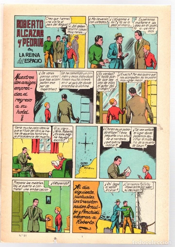 Tebeos: ROBERTO ALCAZAR Y PEDRIN. Nº 51. LA REINA DEL ESPACIO. 2ª EPOCA. VALENCIANA, 1976 - Foto 2 - 162182221