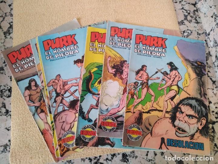 LOTE DE TEBEOS PURK EL HOMBRE DE PIEDRA (Tebeos y Comics - Valenciana - Purk, el Hombre de Piedra)