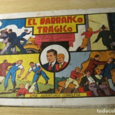 Tebeos: EL BARRANCO TRAGICO . ROBERTO ALCAZAR EL INTREPIDO AVENTURERO ESPAÑOL . ED VALENCIANA 1944 ORIGINAL. Lote 163800966