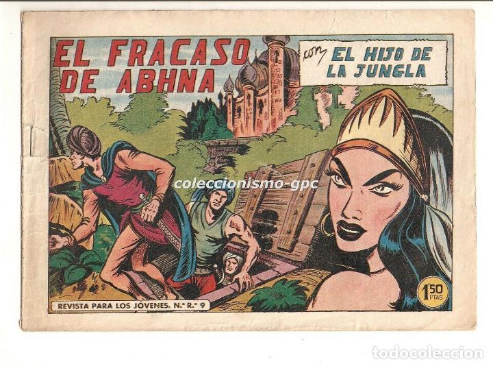 EL HIJO DE LA JUNGLA Nº 47 TEBEO ORIGINAL 1956 EL FRACASO DE ABHNA EDITORIAL VALENCIANA GAGO SERCHIO (Tebeos y Comics - Valenciana - Hijo de la Jungla)