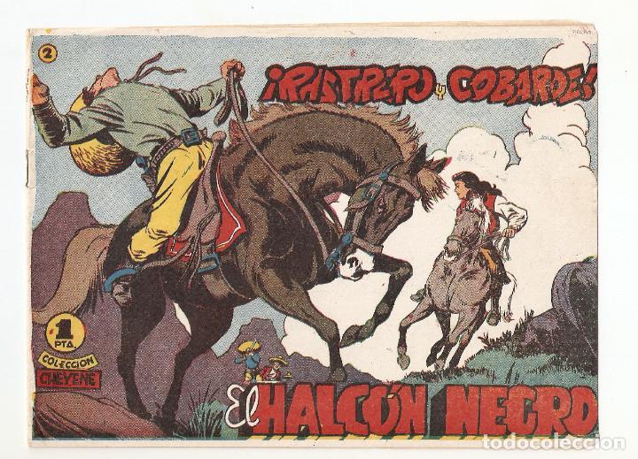 EL HALCON NEGRO Nº 2 TEBEO ORIGINAL 1959 RASTRERO Y COBARDE EDIT. MARCO BUEN ESTADO RARO LEER MIRA ! (Tebeos y Comics - Valenciana - Hijo de la Jungla)