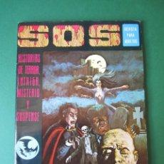 Tebeos: SOS (1975, EDIVAL) 1 · 22-II-1975 · S O S. HISTORIAS DE TERROR, INTRIGA, MISTERIO Y SUSPENSE. Lote 164624810