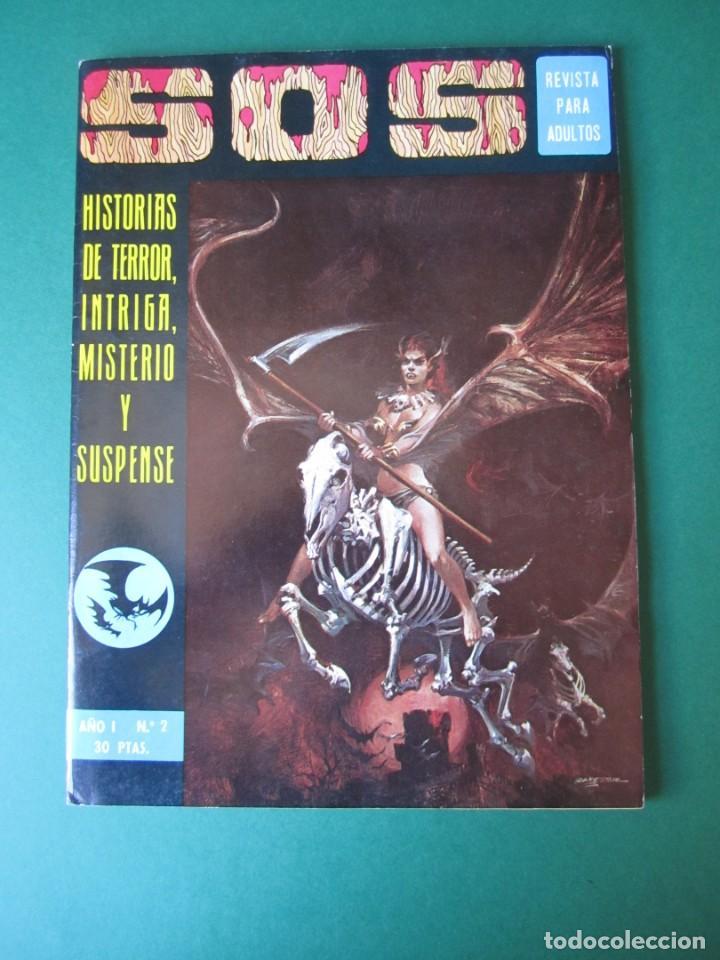 SOS (1975, EDIVAL) 2 · 8-III-1975 · S O S. HISTORIAS DE TERROR, INTRIGA, MISTERIO Y SUSPENSE (Tebeos y Comics - Valenciana - S.O.S)
