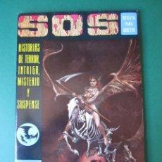 Tebeos: SOS (1975, EDIVAL) 2 · 8-III-1975 · S O S. HISTORIAS DE TERROR, INTRIGA, MISTERIO Y SUSPENSE. Lote 164625026