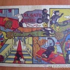 Tebeos: EL GATO CON BOTAS - EDITORIAL VALENCIANA 1941 - EJEMPLAR MONOGRÁFICO. Lote 164942774