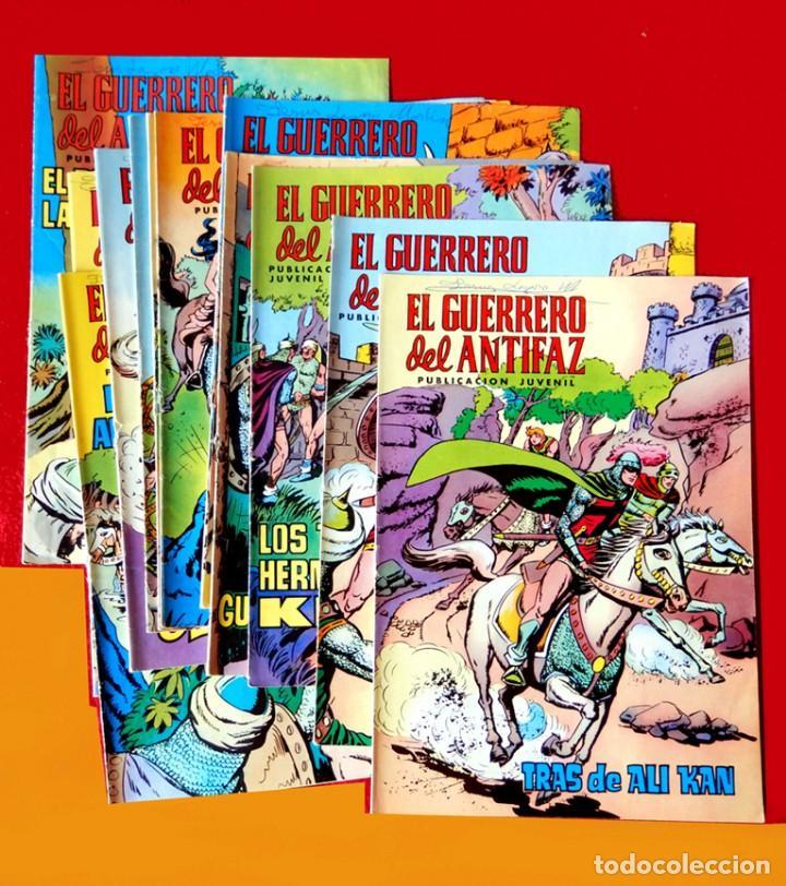 EL GUERRERO DEL ANTIFAZ, 12 PORTADAS (SIN CÓMIC) Nº 13 AL 24, - EDIC. COLOREADA 1972, DE M. GAGO (Tebeos y Comics - Valenciana - Guerrero del Antifaz)